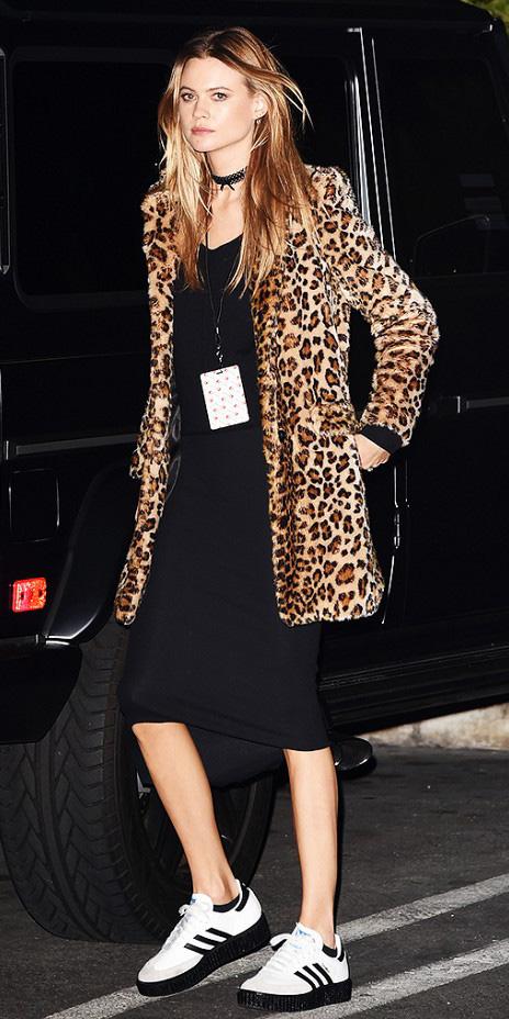 black-dress-tan-jacket-coat-white-shoe-sneaker-howtowear-fashion-style-outfit-fall-winter-bodycon-leopard-adidas-choker-model-street-hairr-dinner.jpg