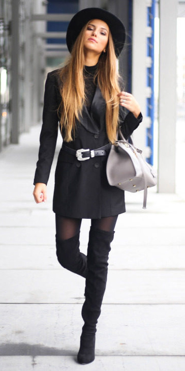 black-dress-bodycon-hat-hairr-gray-bag-belt-blackt-tights-black-shoe-boots-otk-black-vest-tailor-fall-winter-lunch.jpg