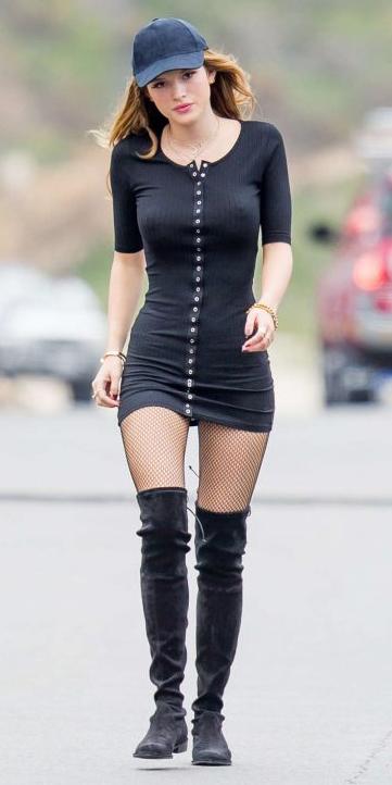 black-dress-black-shoe-boots-hat-cap-bodycon-wear-style-fashion-spring-summer-bellathorne-hairr-lunch.jpg