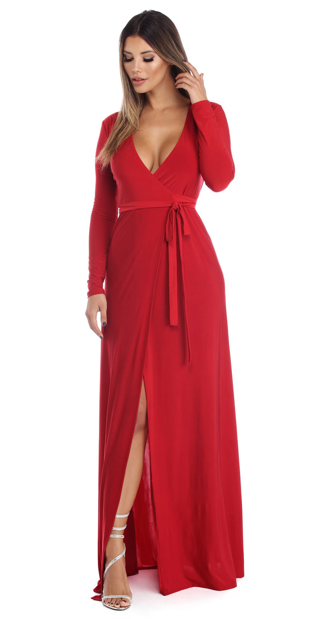 cf05afa8bb2 red-dress-wrap-maxi-white-shoe-sandalh-fall-