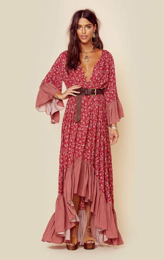 2c9fb6fedb4 red-dress-peasant-print-belt-necklace-hairr-print-