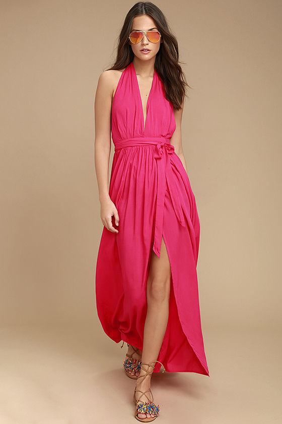 Magenta Maxi Dress