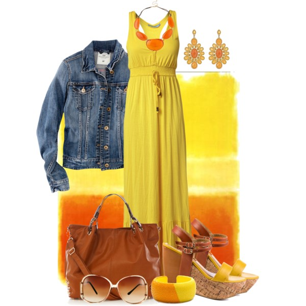 yellow-dress-maxi-necklace-earrings-yellow-shoe-sandalw-cognac-bag-sun-blue-med-jacket-jean-howtowear-fashion-style-outfit-spring-summer-lunch.jpg
