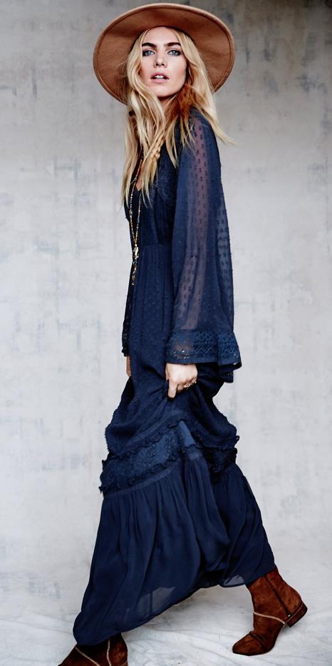 blue-navy-dress-peasant-maxi-blonde-cognac-shoe-booties-hat-fall-winter-weekend.jpg
