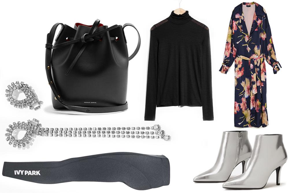 blue-navy-dress-maxi-gray-shoe-booties-silver-metallic-grayd-leggings-wrap-black-tee-turtleneck-layer-black-bag-fall-winter-dinner.jpg