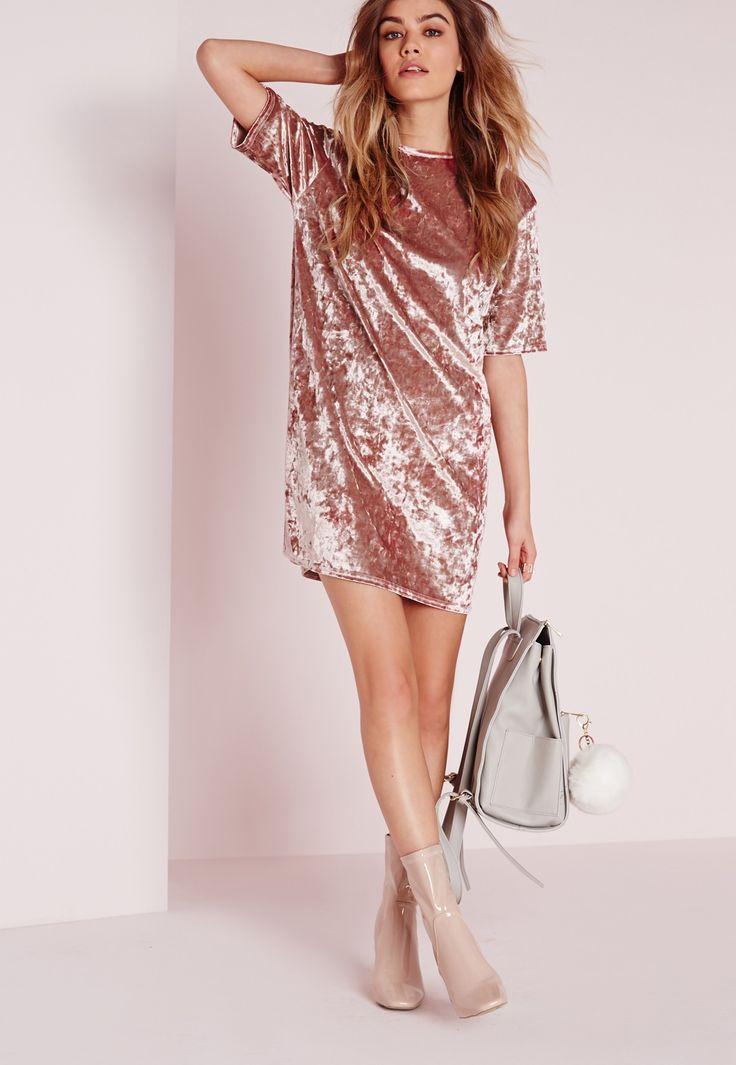 pink-light-dress-tshirt-velvet-tan-shoe-booties- c6ad7def0405