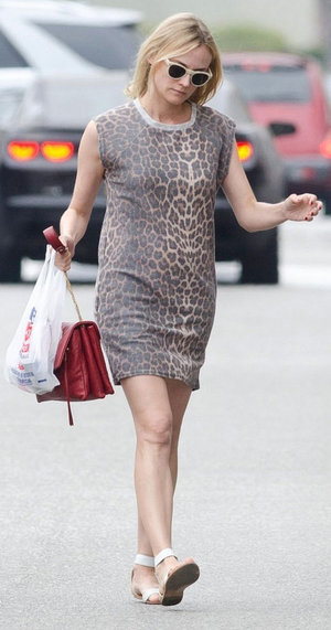 fe27eca93bb4 tan-dress-tshirt-dianekruger-leopard-print-sun-red-