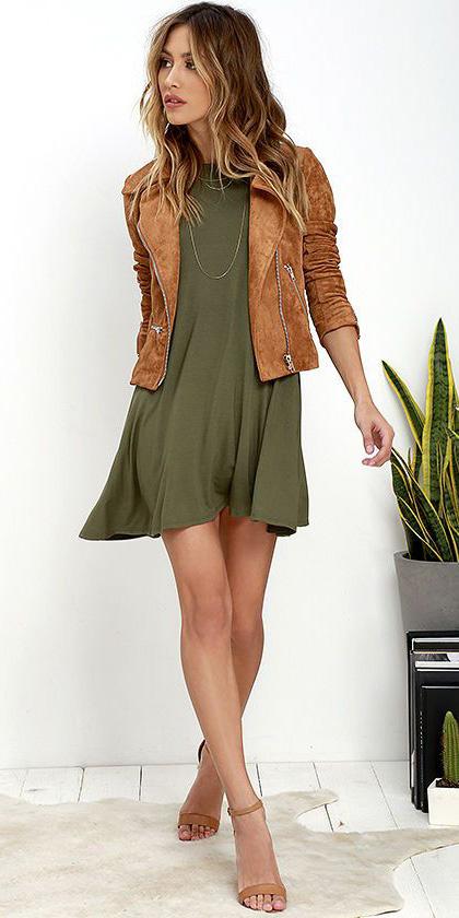 8a0f5715d1a green-olive-dress-cognac-jacket-moto-cognac-shoe-
