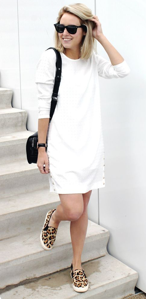 3f681812e7a3 white-dress-tshirt-tan-shoe-sneakers-leopard-black-