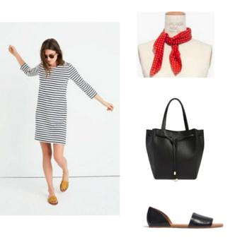 6d3a28989ad8 black-dress-zprint-stripe-black-bag-black-sandals-