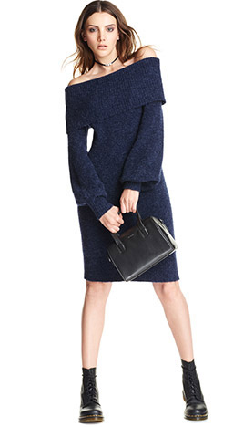 Navy Blue Sweater Dresses Howtowear Fashion
