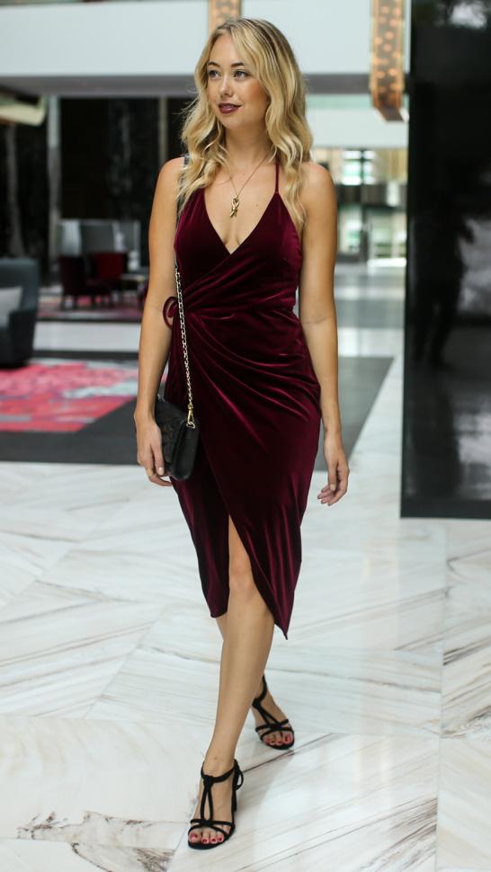 Burgundy Slip Dresses Howtowear Fashion