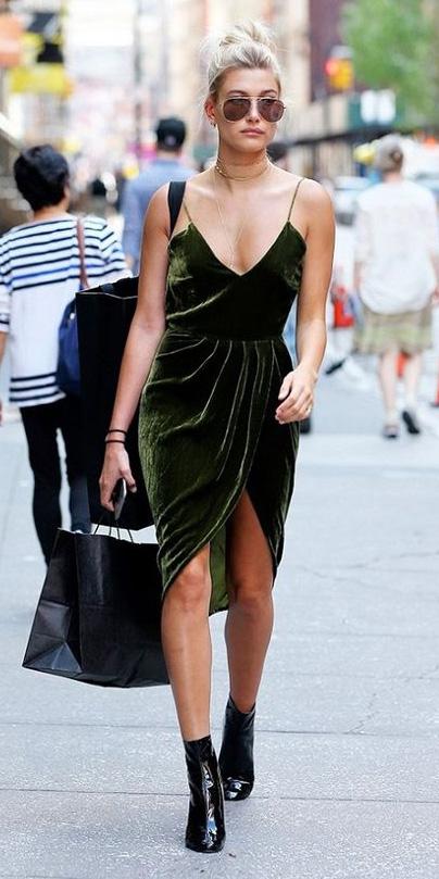 Dark Green Slip Dresses Howtowear Fashion