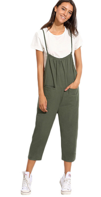 169e80818327 green-olive-jumpsuit-white-tee-white-shoe-sneakers-