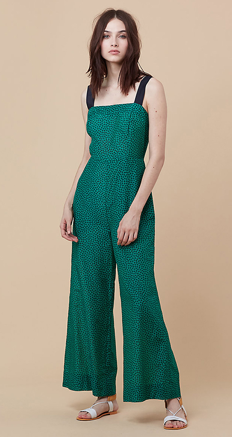 bebd249ac20a green-emerald-jumpsuit-white-shoe-sandals-howtowear-fashion-