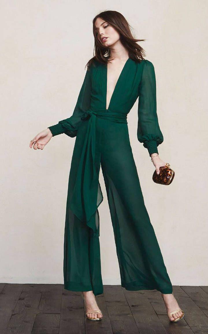 41af673e9de9 green-dark-jumpsuit-tan-shoe-sandalh-wedding-howtowear-