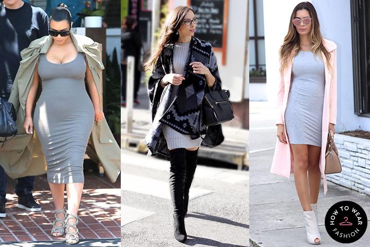 92b5d6f1bb Light gray bodycon dresses