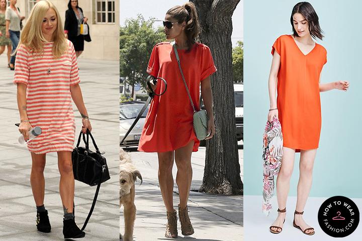 Red T-Shirt Dresses