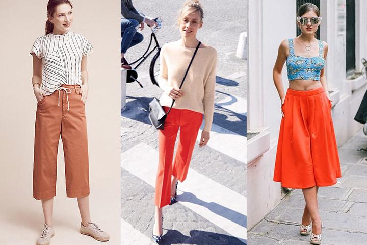 af42e7be6a8 Orange culottes