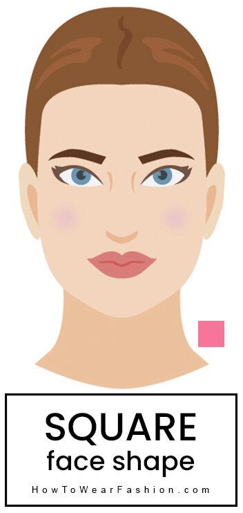 78c305fb Square face shape   HOWTOWEAR Fashion