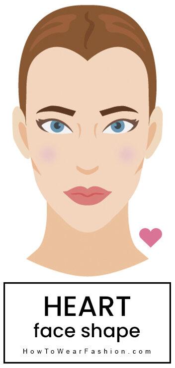 Heart face shape | HOWTOWEAR Fashion