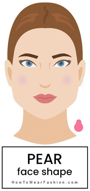 Pear Face Shape Howtowear Fashion