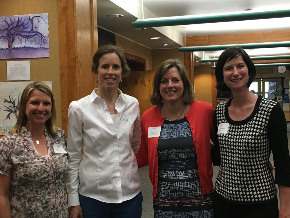 Carie Szalay, Anne Sudduth, Mary Ann Boyer, & Marianne Maloy present at the PAISBOA presentation on zero waste.