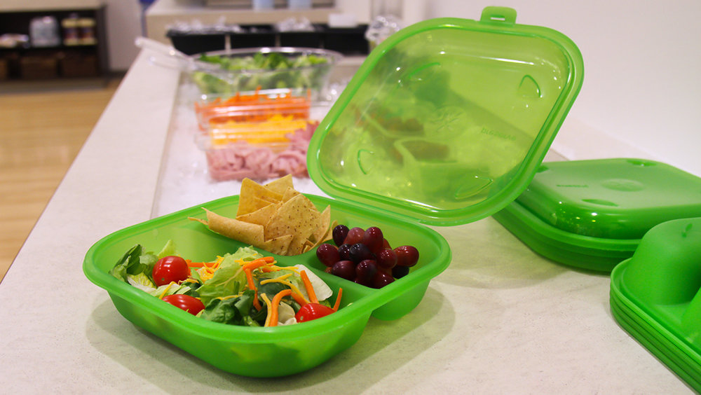 Green Containers used by Wellesley Public Schools. Source: Matt Delaney, Whitsons Culinary Group