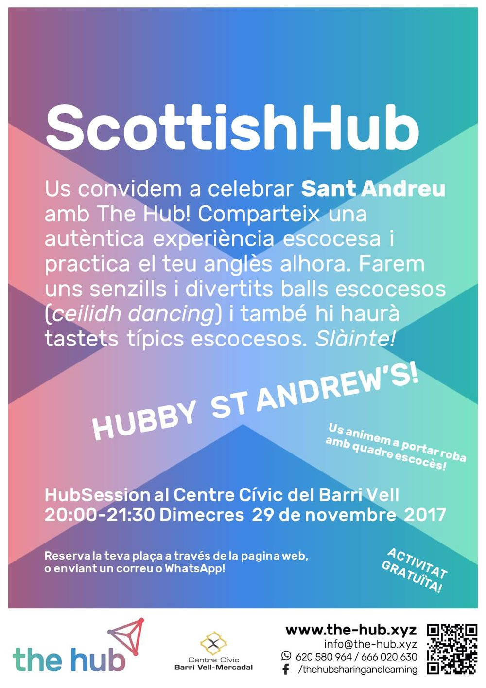 COMe and celebrate st andrew's with the hub! no cal ni parella ni experiència prèvia! are you dancing?!
