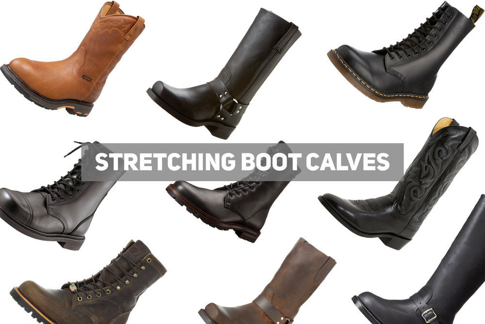 how to stretch leather boots calf