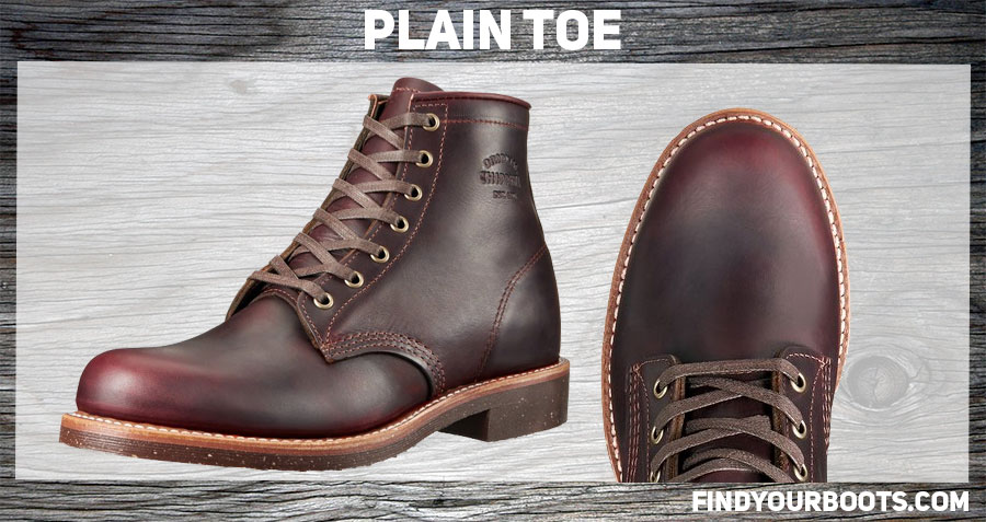 Plain toe boot example: Original Chippewa Service Utility Boot