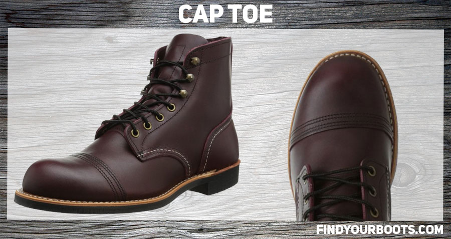 Cap toe boot example: Red Wing Iron Ranger