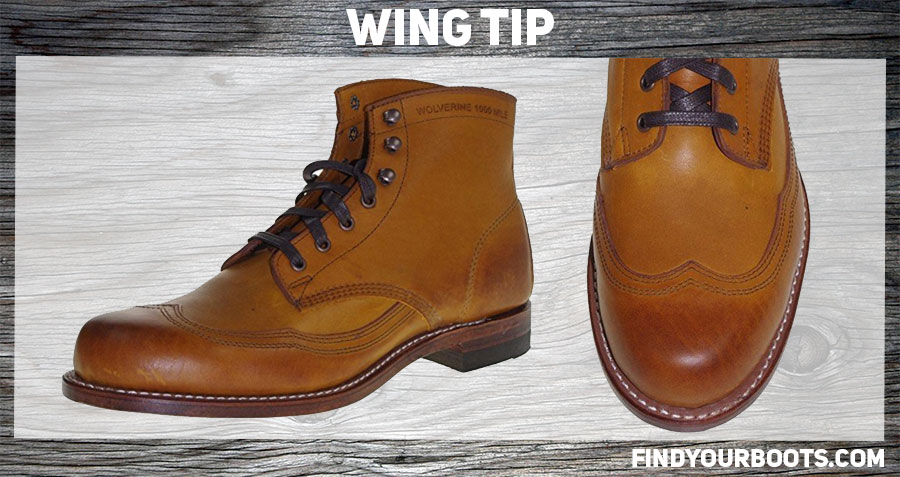 Wingtip boot example: Wolverine 1000 Mile Addison