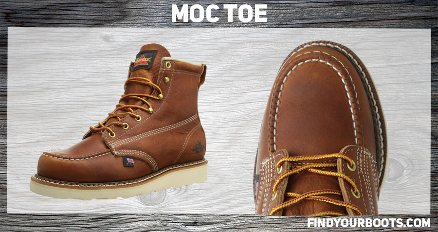 Moc toe boot example: Thorogood American Heritage Moc Toe Boot