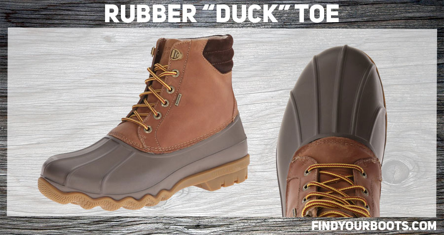 Rubber toe boot example: Sperry Top Sider Avenue Duck Boot