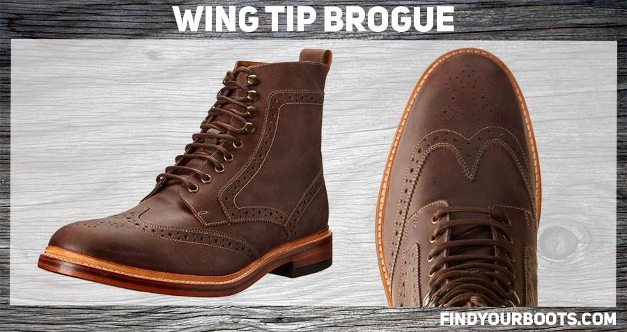Brogue boot example: Stacy Adams Maddison II Boot