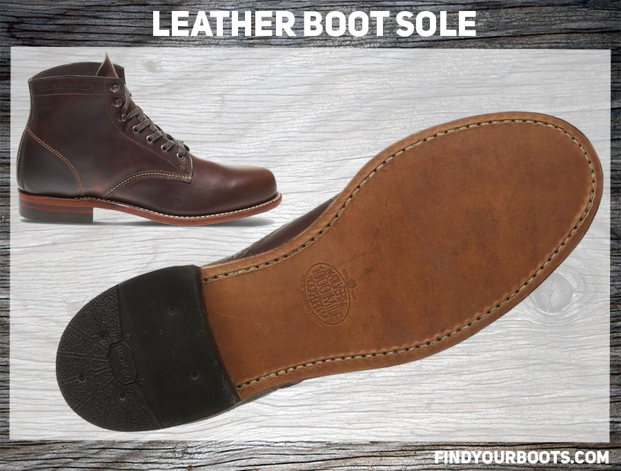 Leather Sole Example - Wolverine 1000 Mile Boot