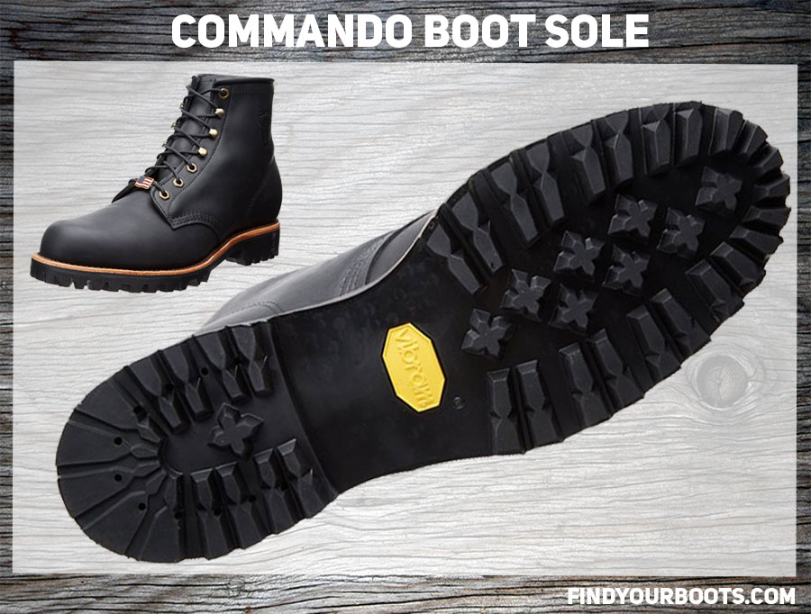 Commando Sole Example -Chippewa Odessa Rugged Boot