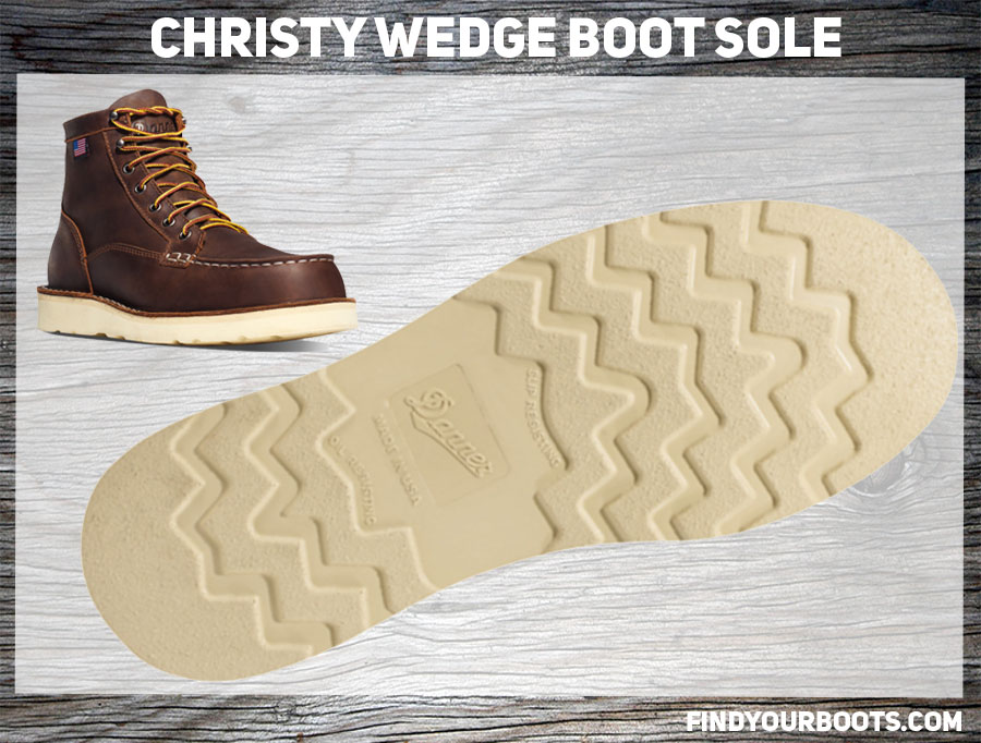 Christy Wedge Sole Example - Danner Bull Run Moc Toe Boot
