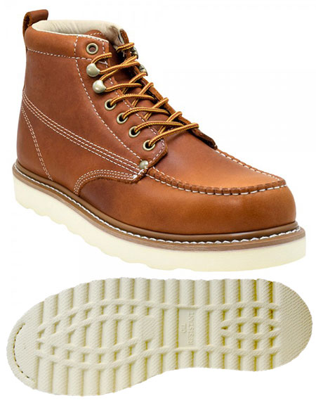 Golden Fox Moc Toe Wedge Boots - Work Boots Under $100