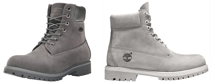 Lugz Convoy in gray color are a cheaper alternative to the Timberland Classic in Monochromatic Grey