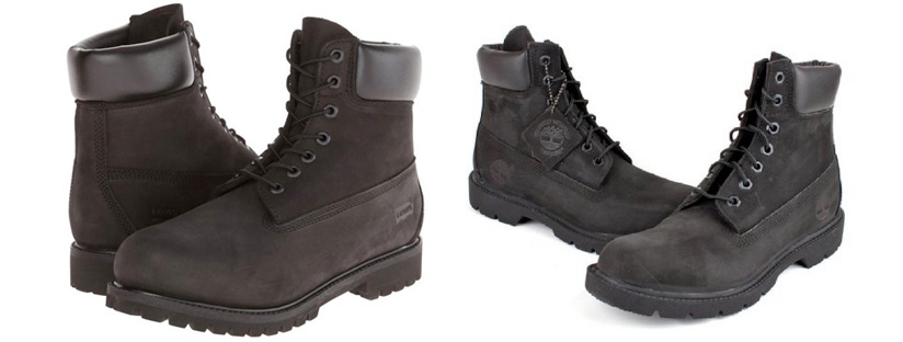 The Levis Harrison Engineer Boot in black is a great cheaper alternative to the Classic Black Timberlands.