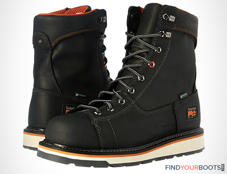Safety Toe Mens Wedge Sole Work Boots
