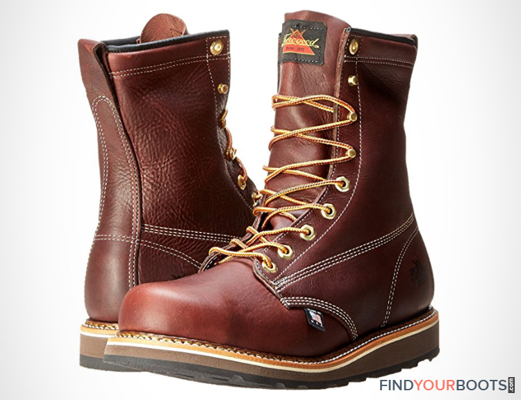 Wedge Steel Toe Boots - Mens steel toe work boots with wedge sole