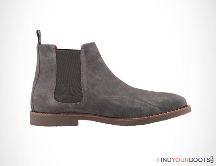 Mens Grey Chelsea Boots
