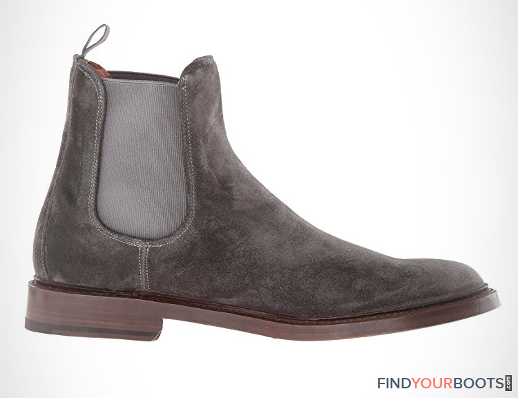 Mens grey suede chelsea boots