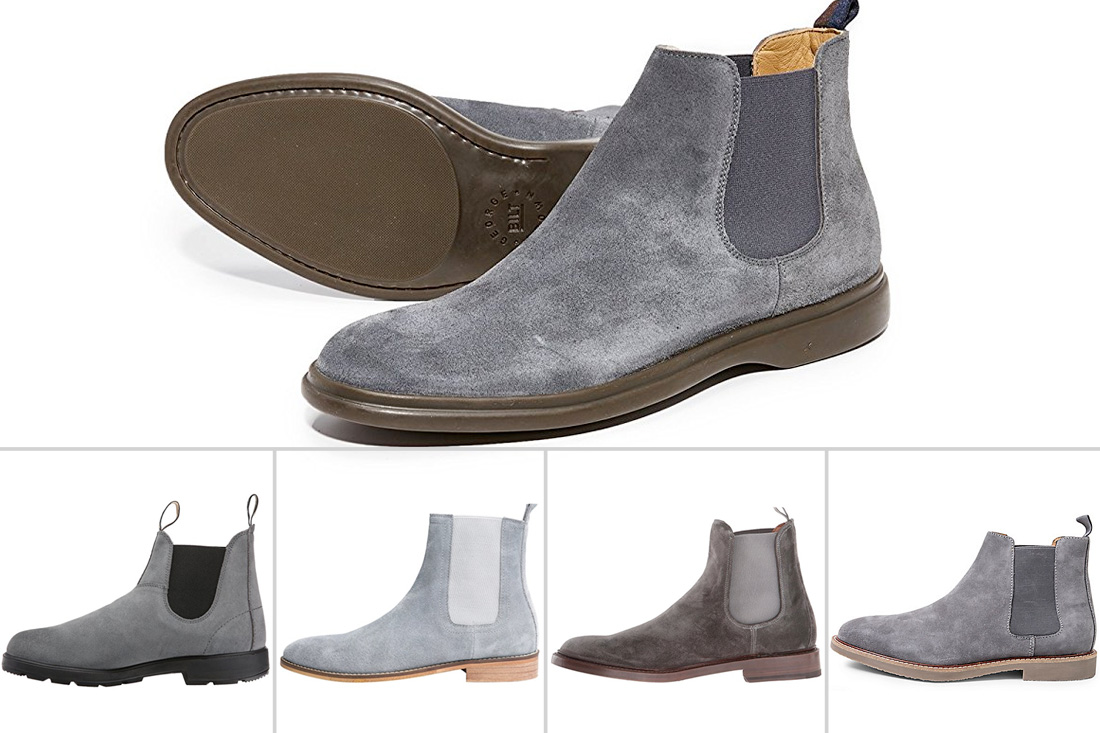 e703d585d02 5 Mens Grey Suede Chelsea Boots to Consider This Season — FindYourBoots
