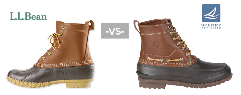 Pictured: LL Bean Boot vs Sperry Decoy Duck Boot