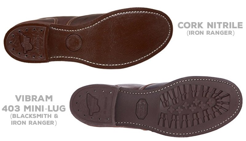 Red Wing Cork Nitrile vs Vibram Mini-Lug outsoles