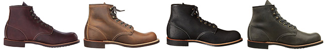 Red Wing Blacksmith leather color options